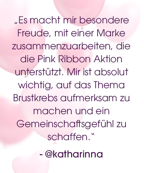 Lascana pink ribbon Statement katharinna